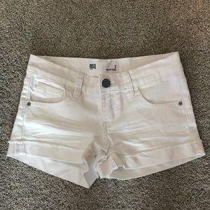 RSQ white jean shorts